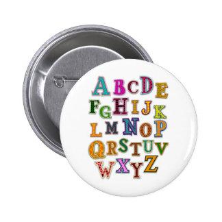 Alphabet Patches 6 Cm Round Badge