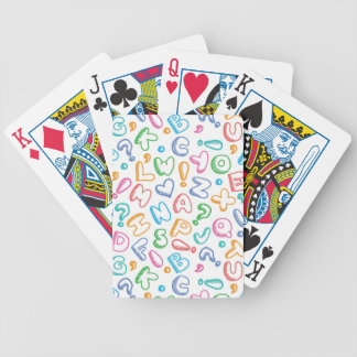 alphabet pattern bicycle playing cards