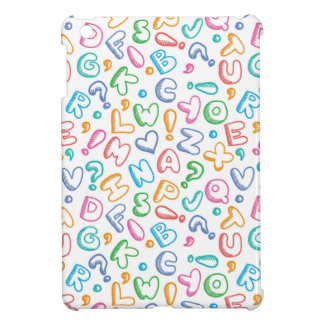 alphabet pattern cover for the iPad mini