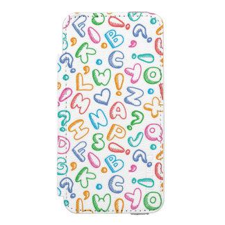 alphabet pattern incipio watson™ iPhone 5 wallet case
