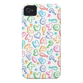 alphabet pattern iPhone 4 Case-Mate case