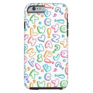 alphabet pattern tough iPhone 6 case