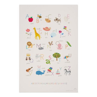 Browse our Collection of Alphabet Posters and personalise by colour, design, or style.