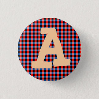 Alphabet Red Blue Blocks Button