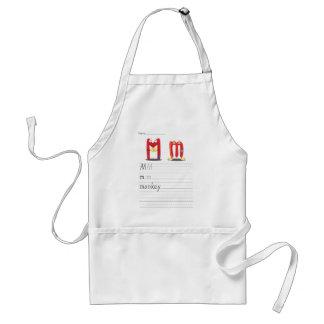 Alphabet sheet standard apron