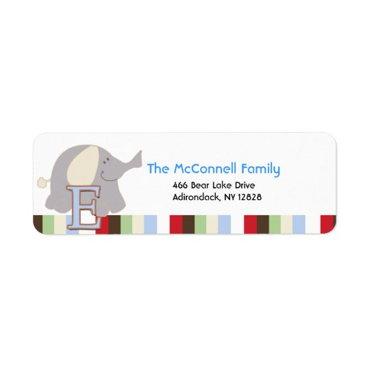 Alphabet Soup Elephant PRINTABLE ADDRESS LABELS