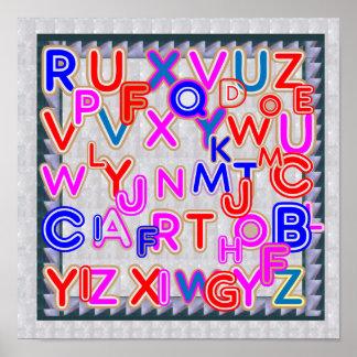 ALPHABET SOUP :  Find your alphabet QUIZ Poster
