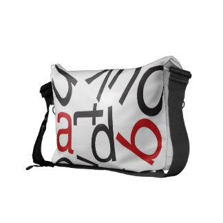 Alphabet Soup Medium Courier Bag