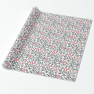 Alphabet Soup Wrapping Paper