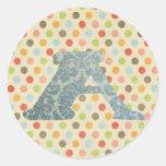 Alphabet Template Round Sticker