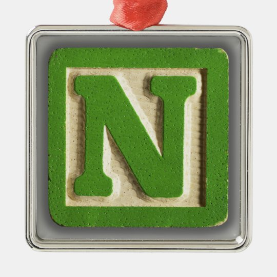 Alphabet Toy Block N Christmas Ornament