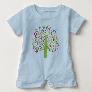 Alphabet tree rumper baby bodysuit