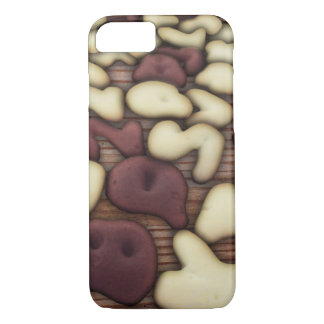 Alphabet Vanilla and Chocolate Cookies Biscuits iPhone 7 Case