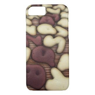 Alphabet Vanilla and Chocolate Cookies Biscuits iPhone 7 Case