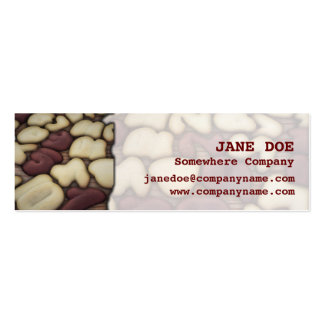 Alphabet Vanilla and Chocolate Cookies Biscuits Pack Of Skinny Business Cards