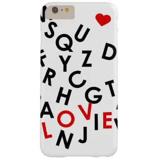 alphabet with the word: love barely there iPhone 6 plus case
