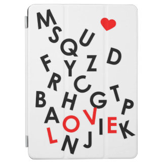 alphabet with word: love iPad air cover