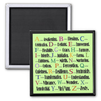 alphabet word collage magnet
