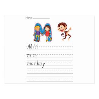Alphabet worksheet postcard