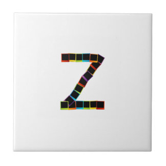 Alphabet Z with colorful polaroids Tiles