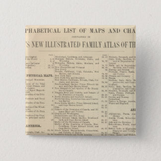 Alphabetical List of Maps and Charts 15 Cm Square Badge