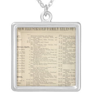 Alphabetical List of Maps and Charts Silver Plated Necklace