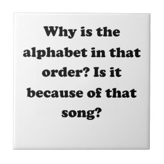 Alphabetical Order Tile