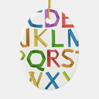 Alphabets Christmas Ornament