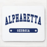 Alpharetta Georgia College Style t shirts Mouse Pads