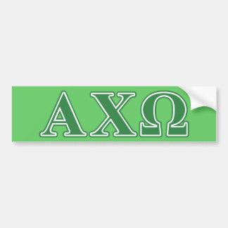 Alphi Chi Omega Green Letters Bumper Sticker