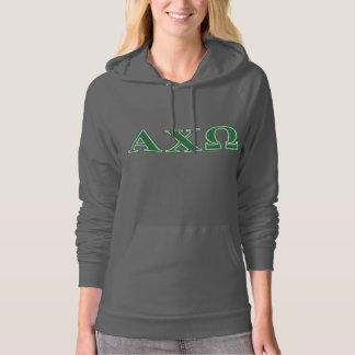 Alphi Chi Omega Green Letters Hoodie