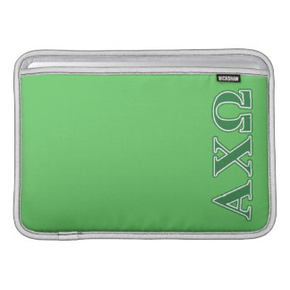 Alphi Chi Omega Green Letters MacBook Sleeve