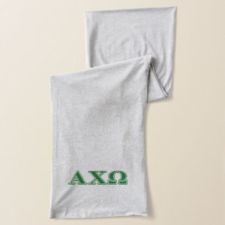 Alphi Chi Omega Green Letters Scarf