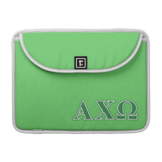 Alphi Chi Omega Green Letters Sleeve For MacBooks