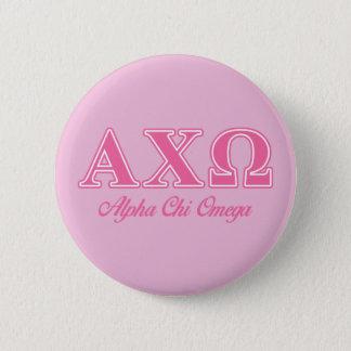 Alphi Chi Omega Pink Letters 6 Cm Round Badge