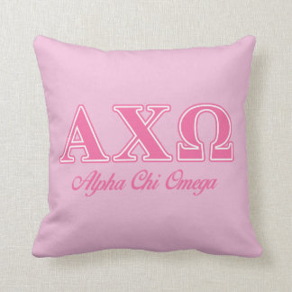 Alphi Chi Omega Pink Letters Cushion