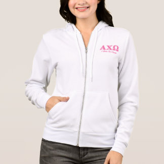 Alphi Chi Omega Pink Letters Hoodie