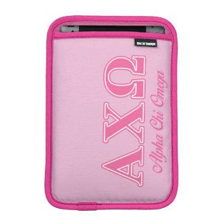 Alphi Chi Omega Pink Letters iPad Mini Sleeve
