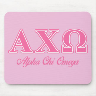 Alphi Chi Omega Pink Letters Mouse Mat