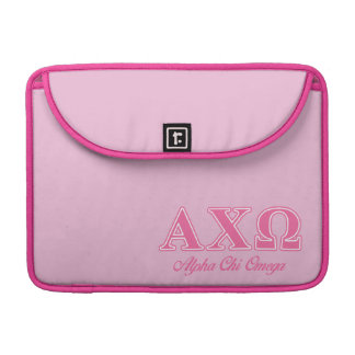 Alphi Chi Omega Pink Letters Sleeve For MacBook Pro