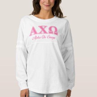 Alphi Chi Omega Pink Letters Spirit Jersey