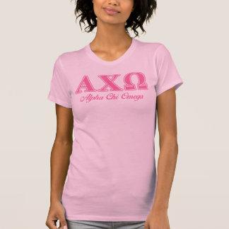 Alphi Chi Omega Pink Letters T-Shirt