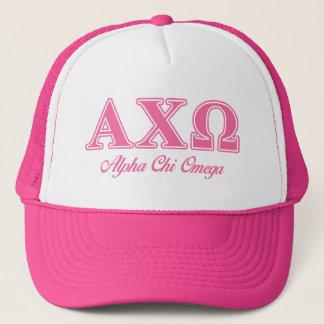 Alphi Chi Omega Pink Letters Trucker Hat