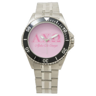 Alphi Chi Omega Pink Letters Watch