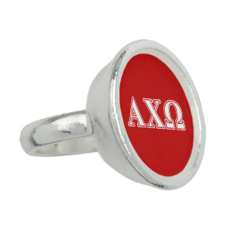 Alphi Chi Omega White and Red Letters