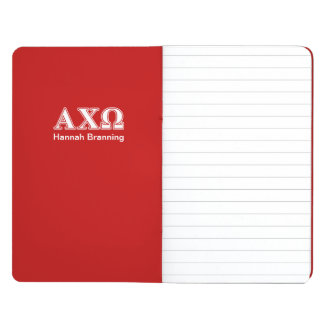 Alphi Chi Omega White and Red Letters Journal