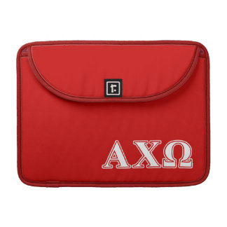 Alphi Chi Omega White and Red Letters Sleeve For MacBook Pro