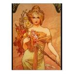Alphonse (Alfons) Mucha  Bouquet Postcard