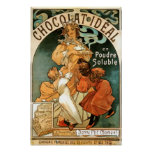 Alphonse (Alfons) Mucha Chocolat Ideal Poster