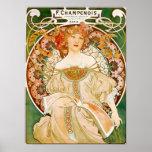 Alphonse (Alfons) Mucha Poster:  Champenois